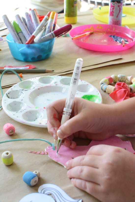 Make Back to School  Sculpey Necklaces - art activity for kids