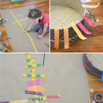Make a washi tape mural with your child - easy art projects for kids
