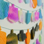 Easy Holiday Garland Decoration you can make with your toddler
