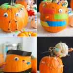 Halloween art project for kids - Pumpkin Party