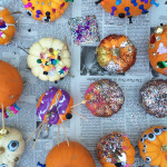 Halloween art project for kids - Pumpkin Party Tinker Trays