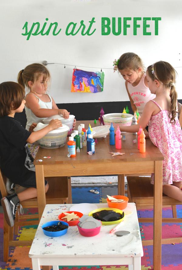 Make a Spin Art Buffet Bar