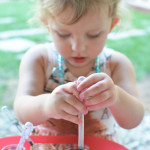 Tie Dyed Paper Towel Art You Can Do with Your Toddler