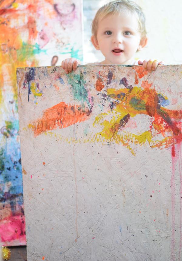 Toddler Masterpiece Canvas Art