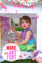 Make an Art Fort – Great Play Date Activity