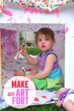 Make an Art Fort – Great Play Date Activity