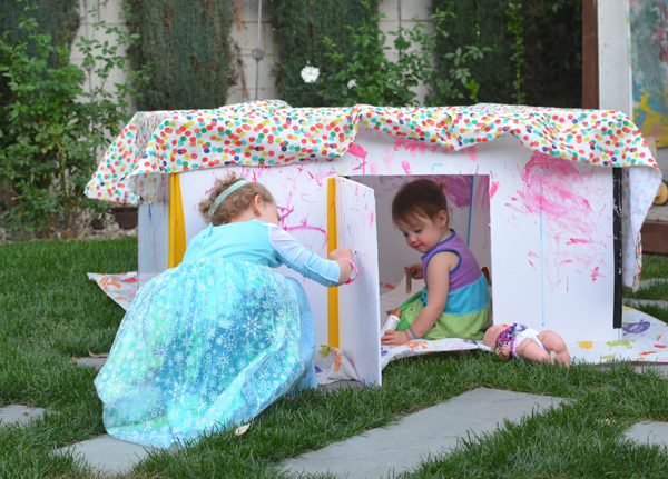 How to make an art fort with your kids