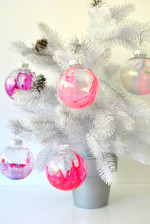 Make Marbled Christmas Ornaments