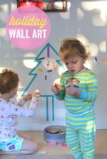 Holiday Washi Tape Wall Art