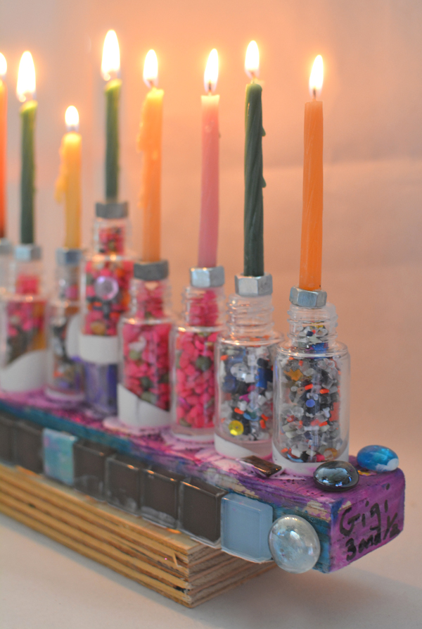 How to Make a Hanukkiah