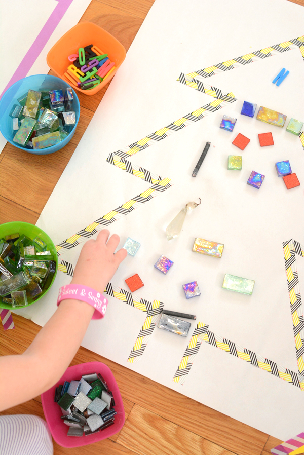 Holiday Mosaics Easy Art Activity For Kids Meri Cherry