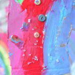 Recycled Hanging Rainbow Art