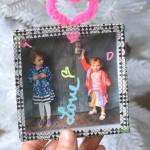 Family Photo Shadow Box Ornaments