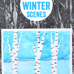 Framed Winter Scenes – Easy Art Projects for kids