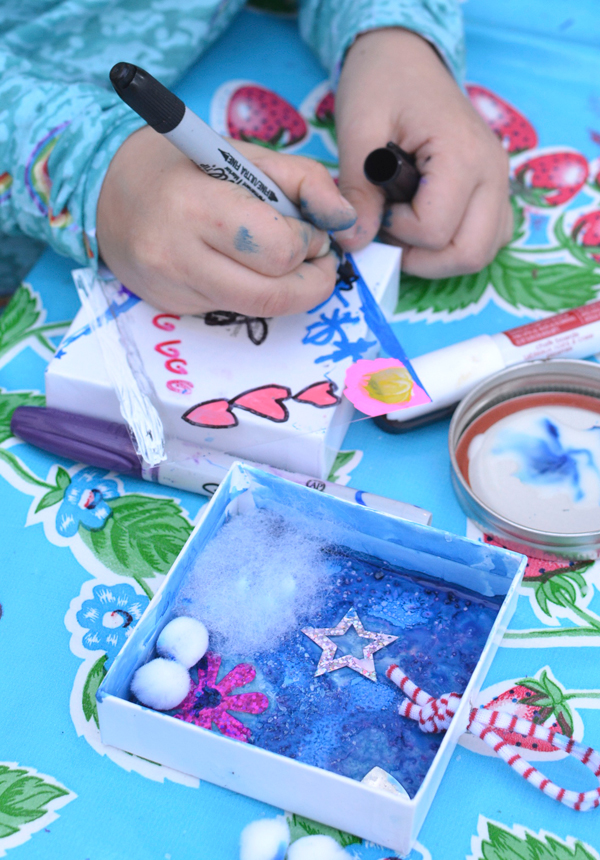 Winter Penguin Shadow Boxes - Winter Crafts for Kids