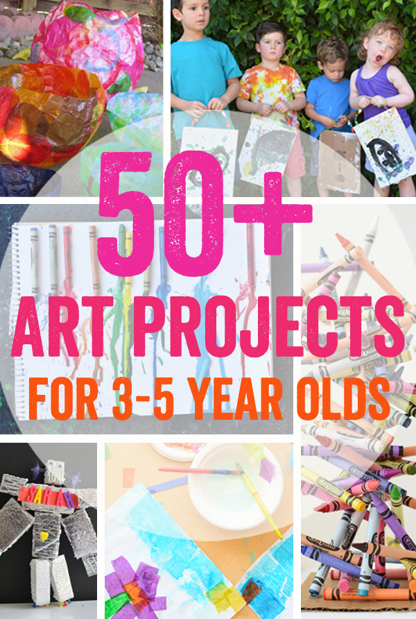 50 art projects for 3 5 year olds meri cherry for Crafts for 10 year old birthday party