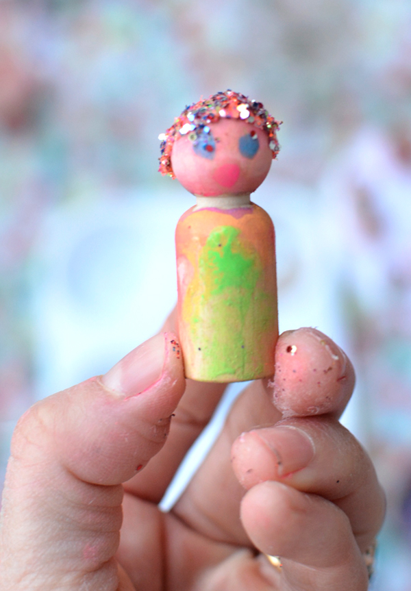 Making Handmade Toys with Your Whole Family and a lot of Glitter
