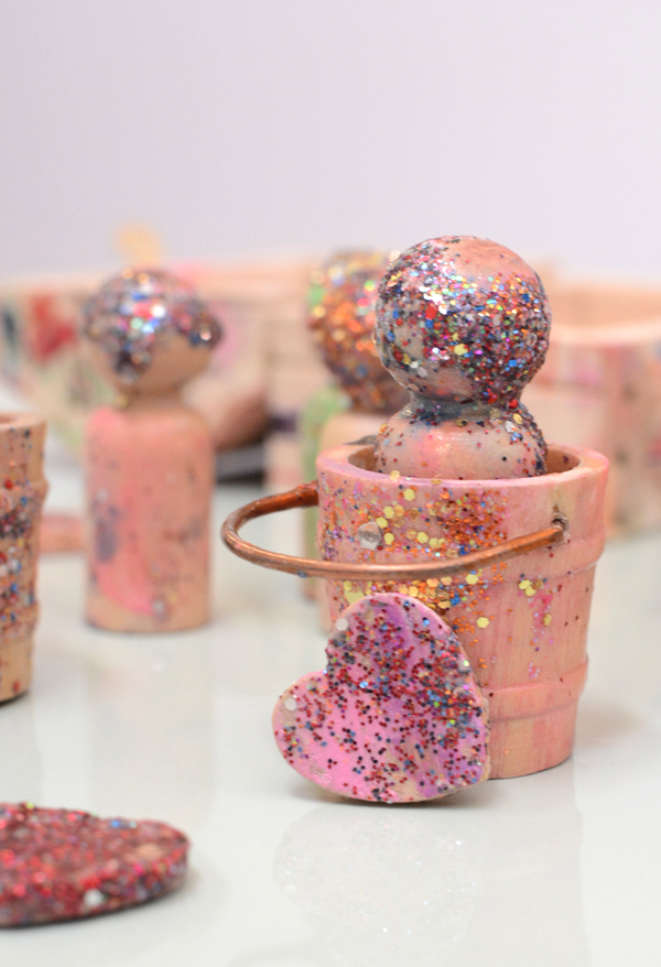Love Buckets and Glitter Friends - Handmade Toys for Kids