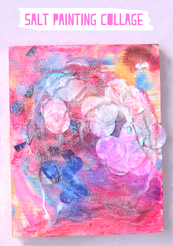 Salt Painting Collage – Process Art for Kids