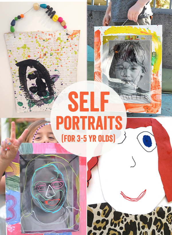 4 Ways to Make Self-Portraits with 3 to 5 Year Olds