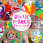 Spin Art Projects for 3 to 5 Year Olds