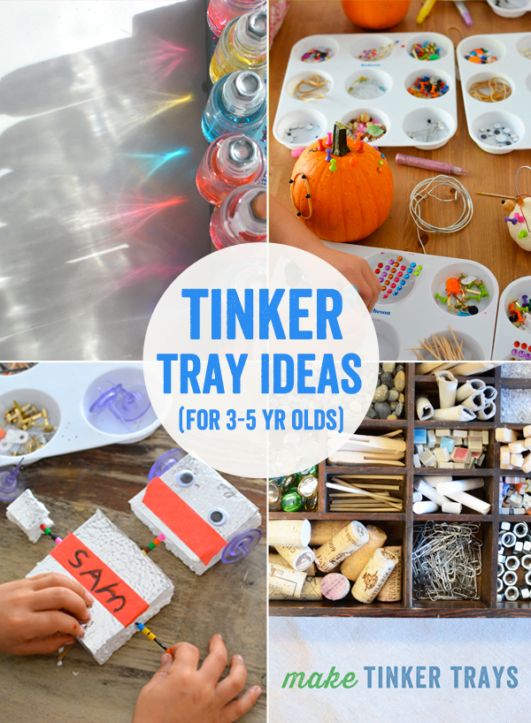 Tinker Tray Ideas for 3 to 5 Year Olds