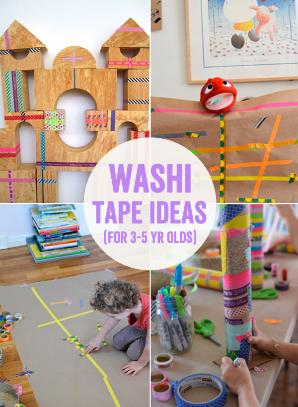 Washi Tape Art Project Ideas for 3 to 5 year Olds