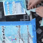Framed Winter Art Scenes - Easy Art Projects for Kids