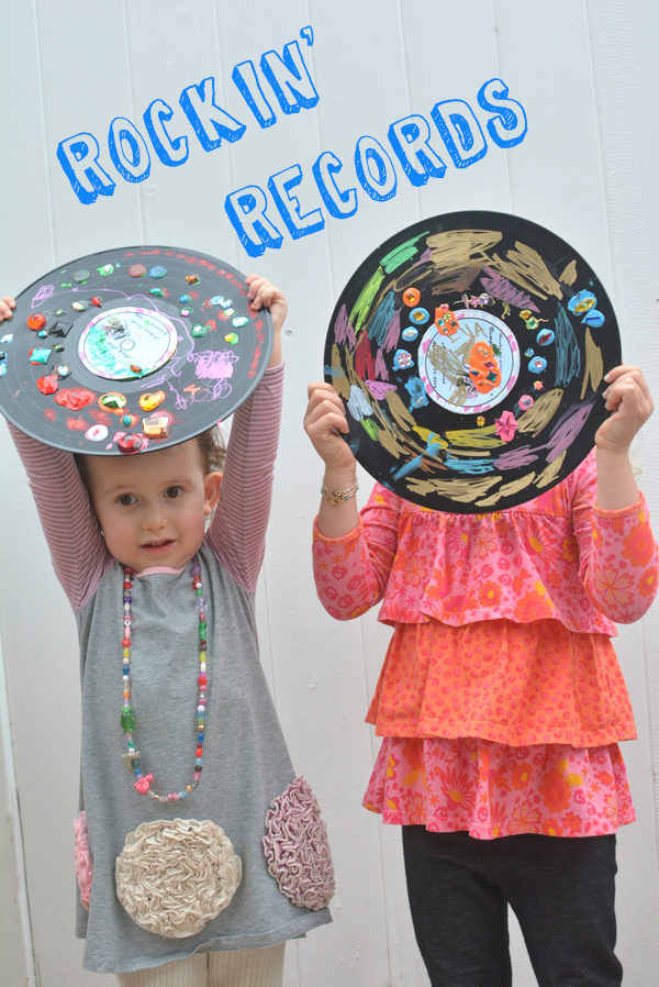 Rockin' Records – Easy Art Project for Kids