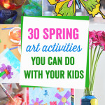 These art activities are amazing! There is something in here for the crafty moms and the not so crafty moms, plus kids of all ages. Great round up!