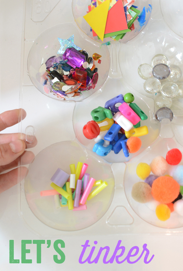 I love Tinker Trays and use them all the time with my kids.  Open ended art and tinkering!