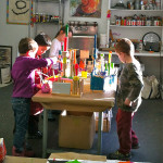 What an inspired space for kids to create! I love this!
