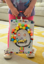 Happy Cereal Box Art with Tinker Trays