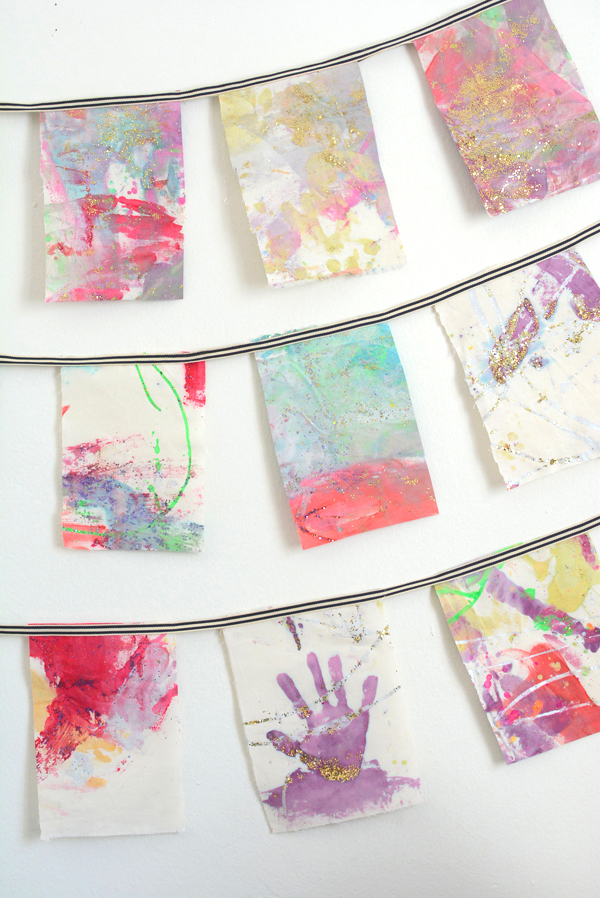 Fabric Wall Hanging make wall hangings from your child's artwork - meri cherry