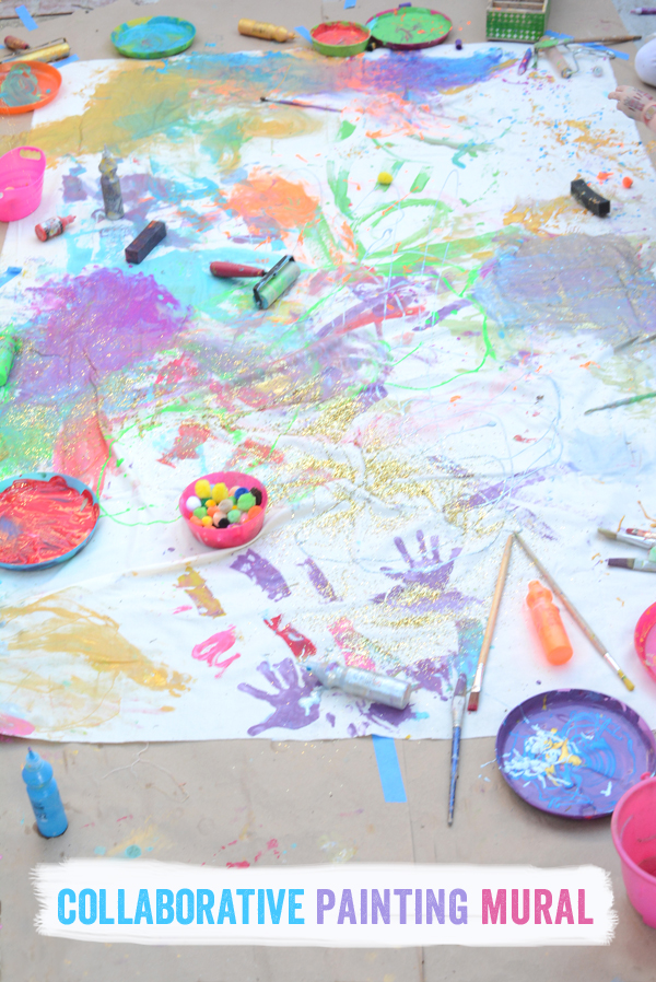 Collaborative Painting Mural for Kids - freestylin
