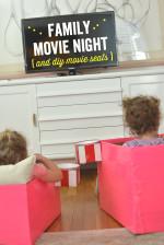 Family Movie Night and DIY Movie Seats