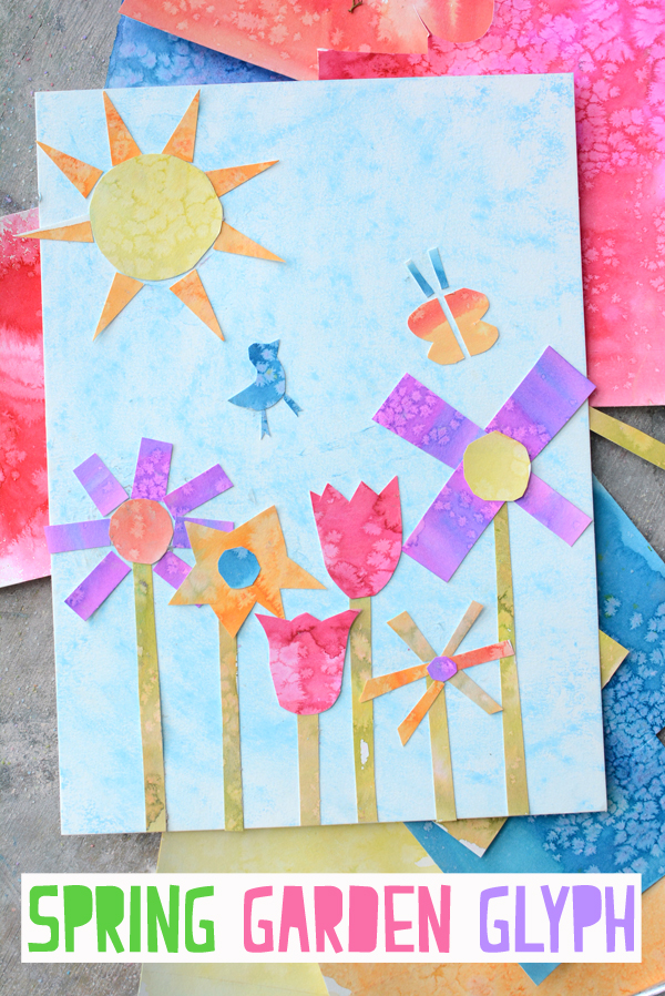 Make a Spring Garden Glyph - A fun artful way to introduce coding to young children.  Go STEAM!