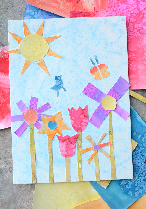spring garden glyph - art and math combined for a super fun spring project for kids.