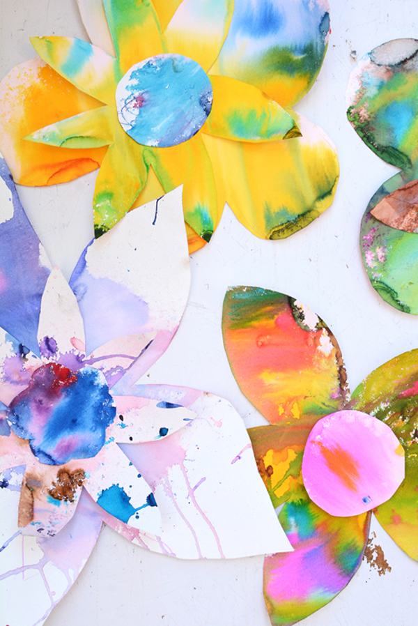 watercolor flower art - great art project to celebrate spring!