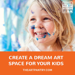 incredible resource for creating totally doable art spaces for kids!