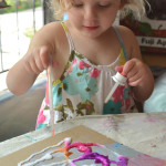 Salt painting is so cool. Kids love it!