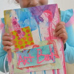 Art Books by little kids. Would be so great with photographs too. Great way to store art too.