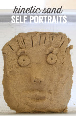 Kinetic Sand Self Portraits