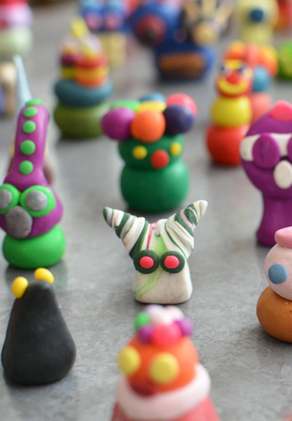 Alien Army from Sculpey