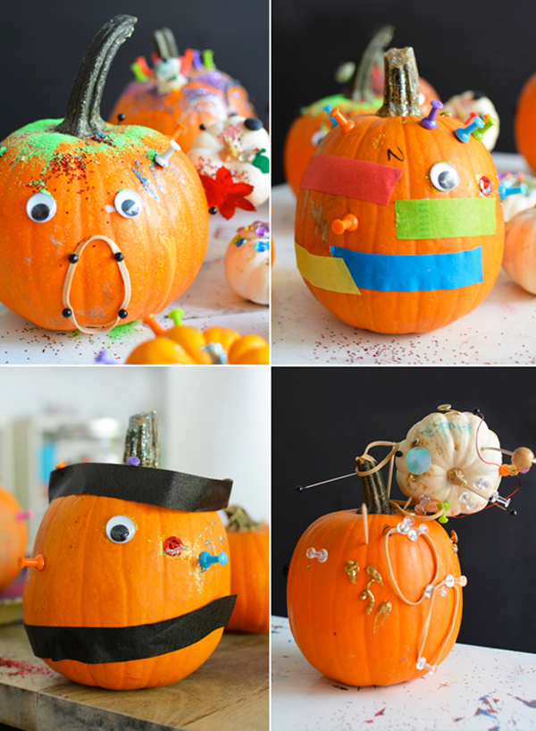 pumpkin party with tinker trays