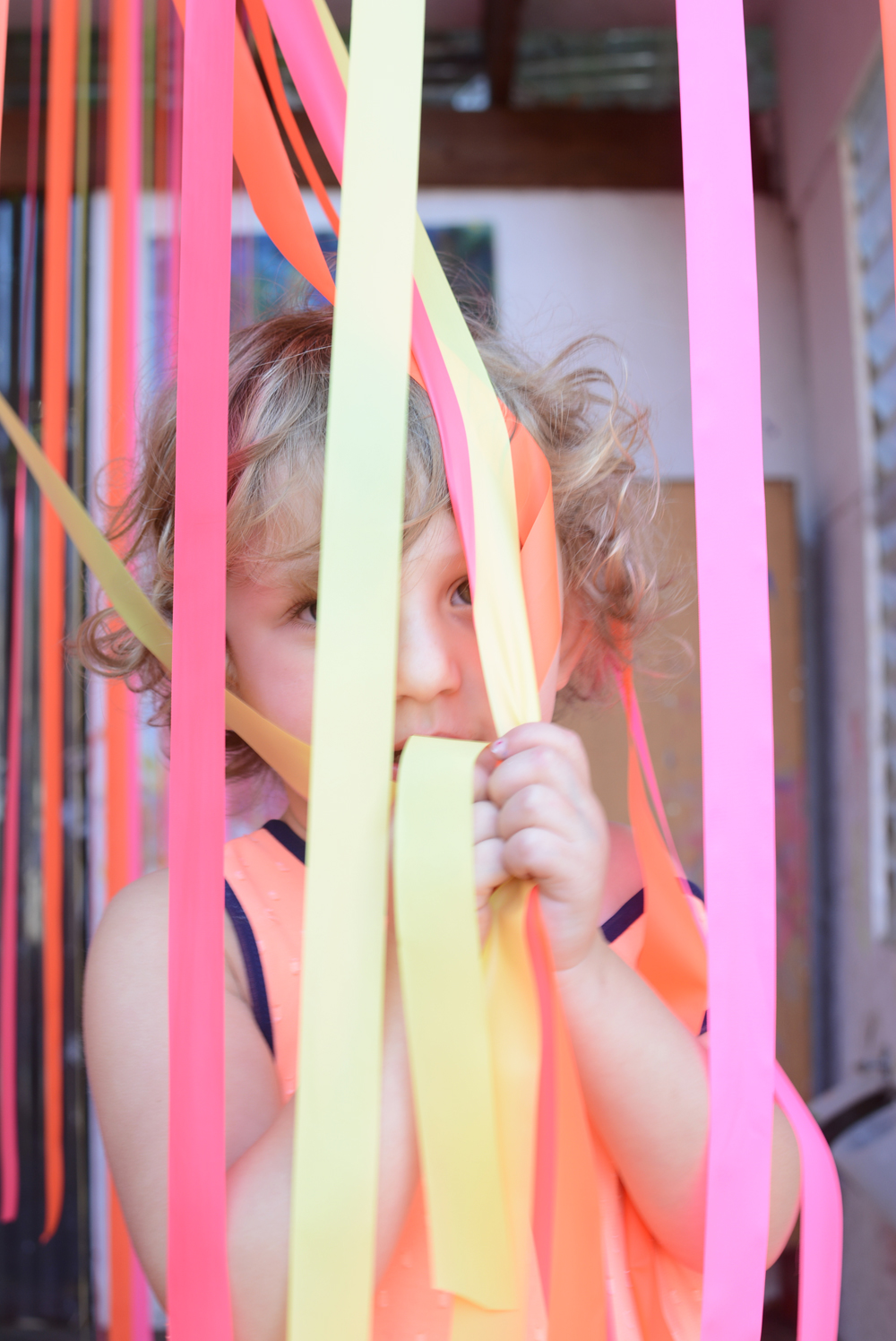 Make a Ribbon Fun House for Toddlers
