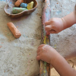 This may be the easiest most engaging art activity for little kids on the planet. So easy and so much fun!