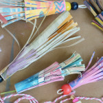 Turn your children's artwork into gorgeous paper tassels
