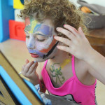 Most young children love face painting. Let them enjoy the process and you won't believe how engaged and careful they will be. Then just jump in the bath after.