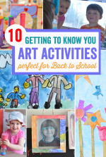 10 Getting to Know You Easy Art Activities for Back to School